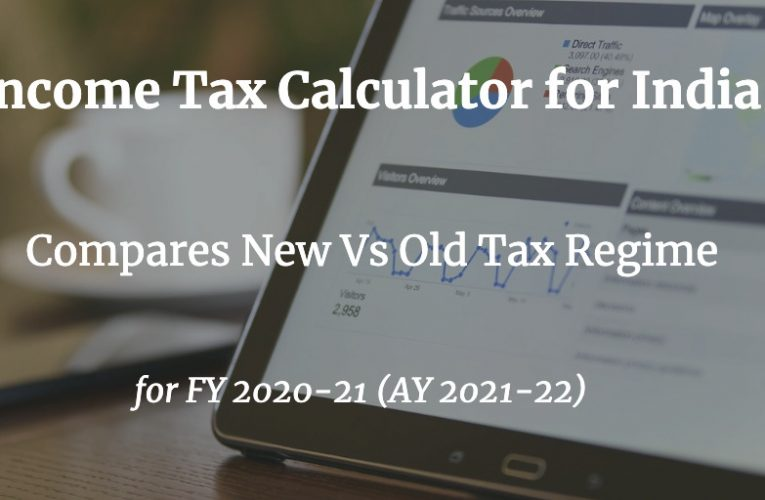 Income Tax Calculator India (FY 2020-21) (AY 2021-22)  ApnaPlan.com – Personal Finance Investment Ideas
